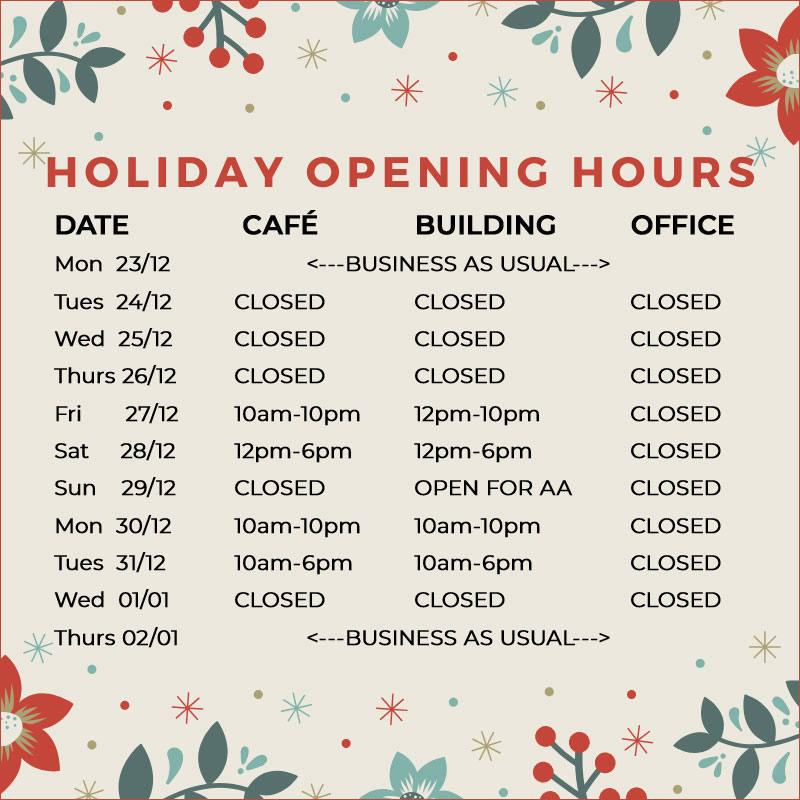 Outhouse Holiday Hours